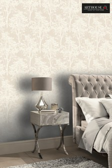 Diamond Wood Floral Wallpaper by Arthouse