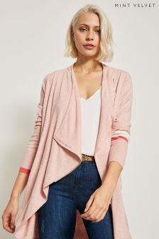 Mint Velvet Pink Colourblock Organic Cardigan