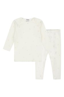 Bonpoint Baby White Cotton Outfit