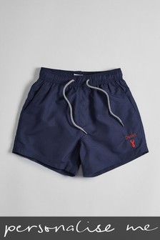 Personalised Navy Swim Shorts