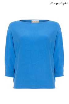 Phase Eight Blue Cristine Batwing Knit Jumper
