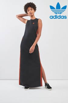 adidas Originals Black/Orange Long Dress