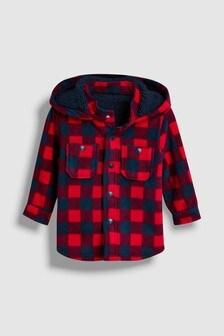 Chaqueta estilo camisa de cuadros y forro polar (3 meses-7 años)