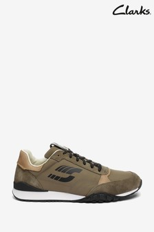 Clarks Olive Combi CraftLo Lace Trainers