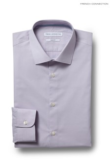 French Connection Lilac Slim Fit Single Cuff Chambray Shirt