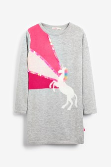 Billie Blush Grey Unicorn Dress