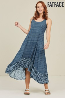 FatFace Blue Lula Shibori Patch Dress