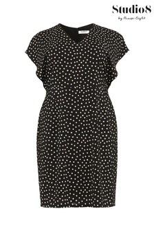 Studio 8 Black Natasha Spot Dress