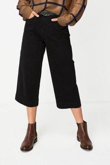 Джинсовая юбка-брюки с поясом