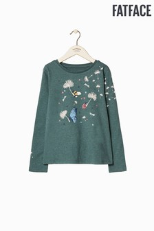 FatFace Green Bug Scatter Graphic Tee