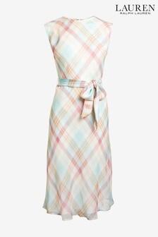 Lauren Ralph Lauren Pale Pink Check Vildie Dress