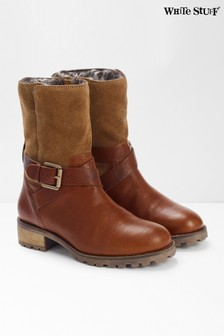 White Stuff Brown Blair Biker Boots