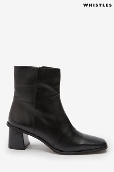 Whistles Black Alex Sock Boots