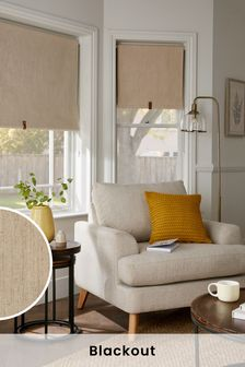 Linen Look Blackout Roller Blind