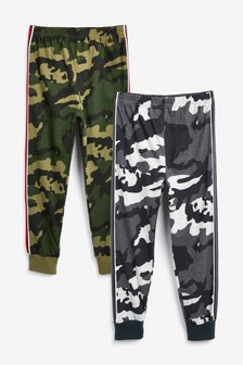 2 Pack Camouflage Long Leg Pyjama Trousers (3-16yrs)