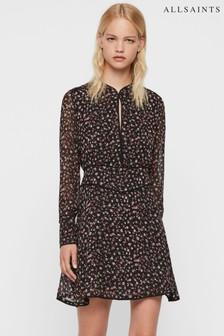 AllSaints Black Ditsy Floral Kay Dress