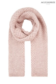 Accessorize Pink Basket Weave Blanket