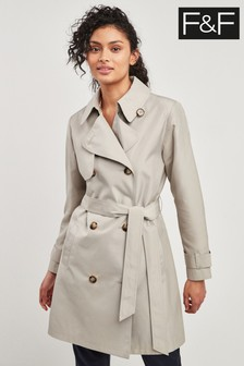 F&F Stone Trench Coat