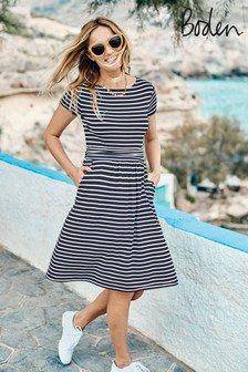 Boden Blue Amelie Jersey Dress