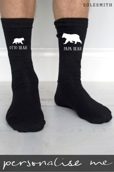 Personalised Papa Bear Socks by Solesmith