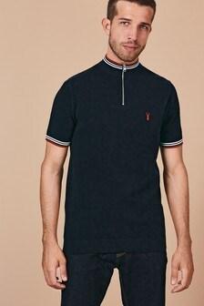 Poloshirt mit Reißverschluss am Kragen