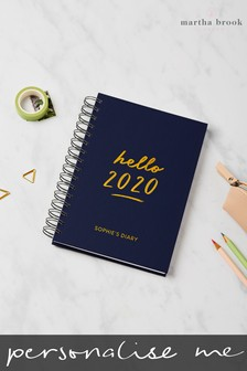Personalised Hello 2019 Diary by Martha Brook