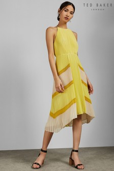 Ted Baker Yellow Pleat Dress