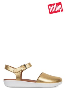 FitFlop™ Gold Strap Leather Sandal