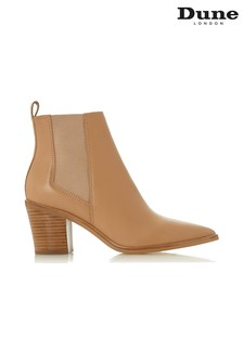 Dune London Camel Pointed Toe Classic Block Heel