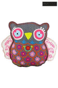 Riva Home White Hootie the Owl Cushion