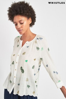 Whistles White Embroidered Shirt