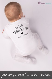 Personalised Our First Mother's Day Sleepsuit by Loveabode