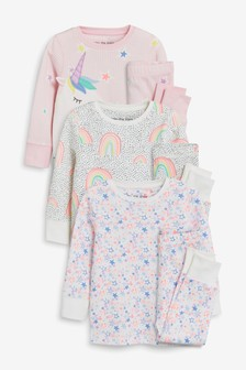 56b1908e34cb Unicorn Snuggle Pyjamas Three Pack (9mths-8yrs)