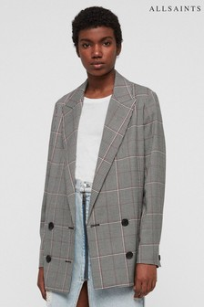 All Saints Pink Check Blazer