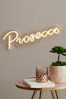 Neon Effect Prosecco Plaque