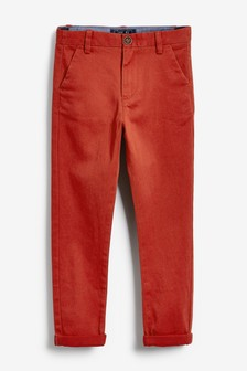 Эластичные брюки чинос (3-16 лет)