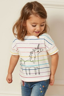 Stripe Unicorn T-Shirt (3mths-7yrs)