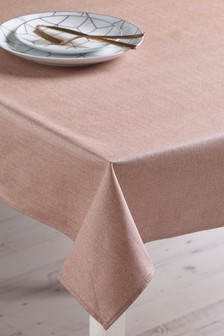 Wipe Clean Rose Gold Glitter Tablecloth