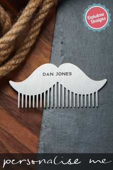 Personalised Moustache Beard Comb by Oakdene Designs