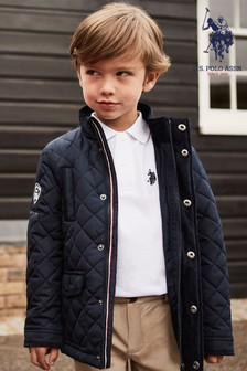 U.S. Polo Assn. Navy Quilted Riding Jacket