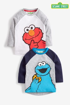 Cookie And Elmo Raglan T-Shirts Two Pack (3mths-8yrs)