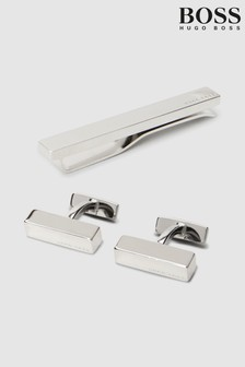 BOSS Teny Tie Pin And Cufflink Gift Set