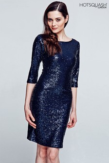 HotSquash Dark Blue Sequin Dress