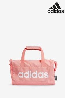 adidas Pink Linear Logo XS Duffel Bag