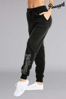 Pineapple Black Loopback Joggers