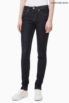 Calvin Klein Jeans Authentic Rinse Mid Rise Skinny Jean
