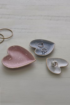 Set of 3 Heart Trinket Dishes