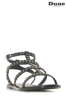 Dune London Black Lakke Sandal