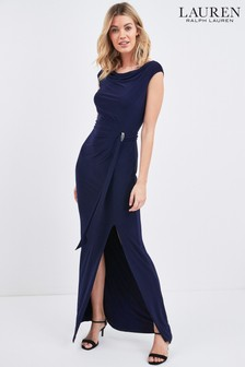 Lauren Ralph Lauren® Shayla Abendkleid, Marineblau