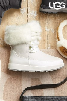 UGG® White Gracie Waterproof Boots